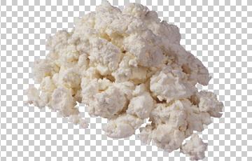 Клипарт белый творог, для Фотошоп в PSD и PNG, без фона