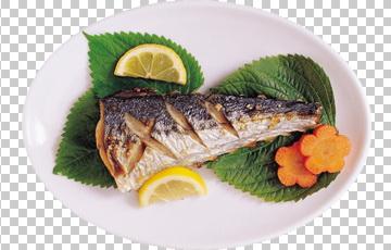 Клипарт жареная рыба, для Фотошоп в PSD и PNG, без фона