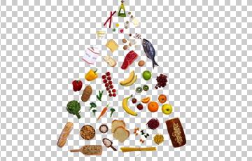 Клипарт пищевая пирамида, для Фотошоп в PSD и PNG, без фона