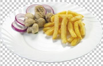 Клипарт картофель фри, для Фотошоп в PSD и PNG, без фона
