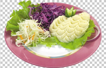 Клипарт картофельное пюре с гарниром, для Фотошоп в PSD и PNG, без фона