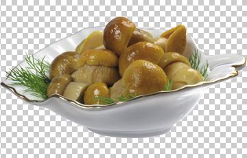 Клипарт консервированные грибы, для Фотошоп в PSD и PNG, без фона