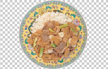 Клипарт грибы с рисом, для Фотошоп в PSD и PNG, без фона