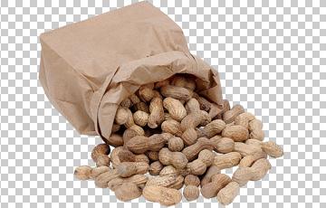Клипарт арахис в бумажном пакете, для Фотошоп в PSD и PNG, без фона