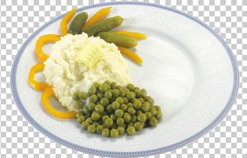 Клипарт горошек с рисом, для Фотошоп в PSD и PNG, без фона