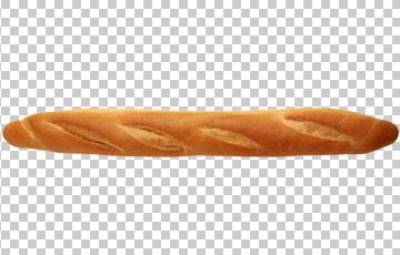 Клипарт багет, для Фотошоп в PSD и PNG, без фона