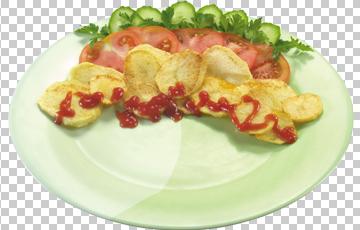 Клипарт картофельные чипсы, для Фотошоп в PSD и PNG, без фона