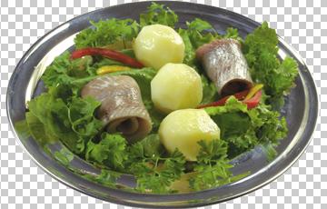 Клипарт картошка с селедкой, для Фотошоп в PSD и PNG, без фона