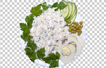 Клипарт салат с горошком, для Фотошоп в PSD и PNG, без фона
