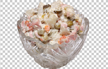 Клипарт салат Оливье, для Фотошоп в PSD и PNG, без фона