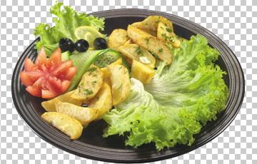 Клипарт печеный картофель, для Фотошоп в PSD и PNG, без фона