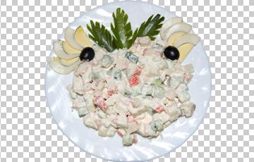 Клипарт салат с маслинами, для Фотошоп в PSD и PNG, без фона