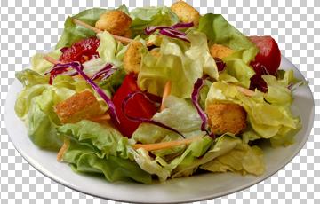 Клипарт салат Цезарь, для Фотошоп в PSD и PNG, без фона