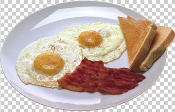 Клипарт жареные яйца (яичница), для Фотошоп в PSD и PNG, без фона
