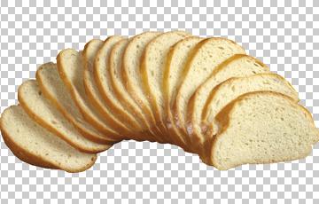 Клипарт кусочки хлеба, для Фотошоп в PSD и PNG, без фона
