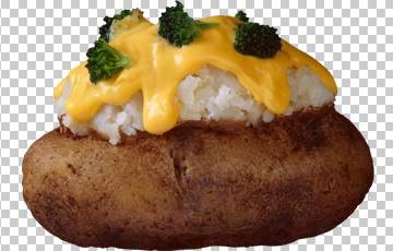 Клипарт печеный картофель с сыром, для Фотошоп в PSD и PNG, без фона