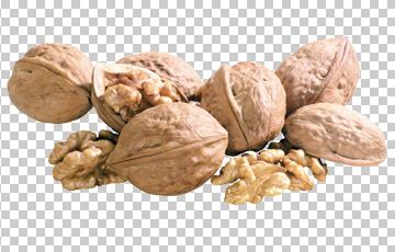 Клипарт грецкие орехи, для Фотошоп в PSD и PNG, без фона