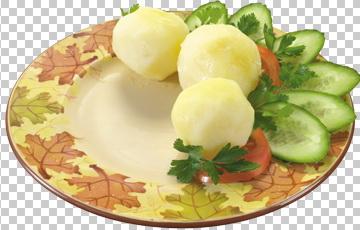 Клипарт вареный картофель, для Фотошоп в PSD и PNG, без фона