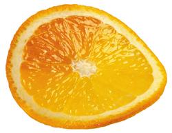 Клипарт круглая долька апельсина, для Фотошоп в PSD и PNG, без фона