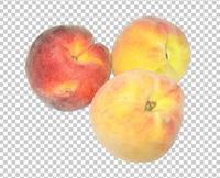 Клипарт три персика, для Photoshop в PSD и PNG, без фона