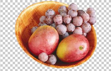 Клипарт виноград и манго, для Фотошоп в PSD и PNG, без фона