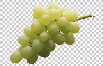 Клипарт светлый виноград, для Фотошоп в PSD и PNG, без фона