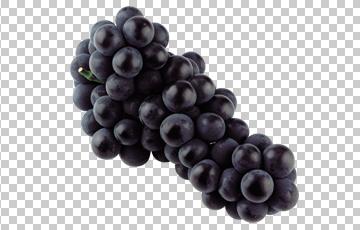 Клипарт черный (темный) виноград, для фотошоп, PSD PNG, без фона