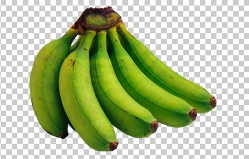 Клипарт зеленые бананы, для Фотошоп в PSD и PNG, без фона