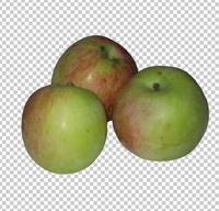 Клипарт три яблока, для Photoshop в PSD и PNG, без фона