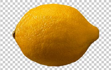 Клипарт лимон, для Фотошоп в PSD и PNG, без фона