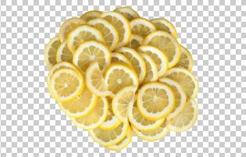 Клипарт дольки лимона, для Фотошоп в PSD и PNG, без фона