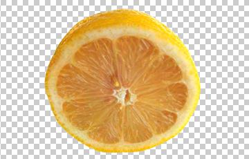 Клипарт половина лимона, для Фотошоп в PSD и PNG, без фона