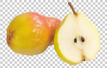 Клипарт спелая груша, для Фотошоп в PSD и PNG, без фона