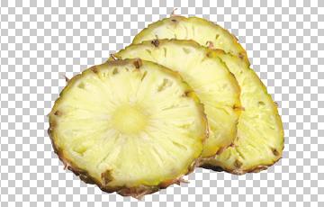 Клипарт дольки ананаса, для Фотошоп в PSD и PNG, без фона