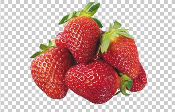Клипарт ягоды клубники, для Фотошоп в PSD и PNG, без фона