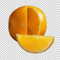 Клипарт апельсин, для Фотошоп в PSD и PNG, без фона