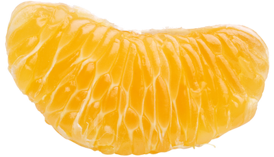 Клипарт долька апельсина, для Фотошоп в PSD и PNG, без фона