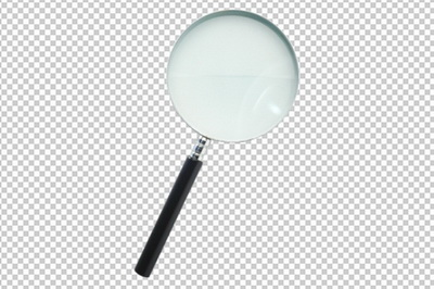 Клипарт лупа (увеличительное стекло), для Фотошоп в PSD и PNG, без фона
