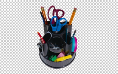 Клипарт органайзер для ручек и карандашей, для Фотошоп в PSD и PNG, без фона