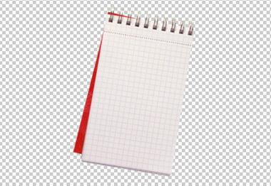 Клипарт блокнот, для Фотошоп в PSD и PNG, без фона