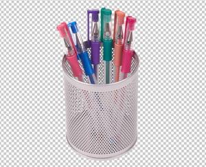 Клипарт гелевые ручки, для Фотошоп в PSD и PNG, без фона