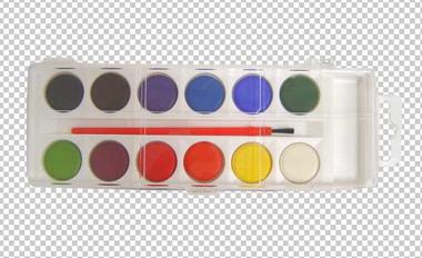 Клипарт краски акварельные, для Фотошоп в PSD и PNG, без фона