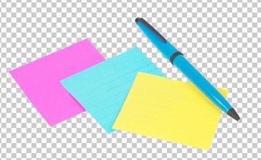 Клипарт листочки для записей, для Фотошоп в PSD и PNG, без фона