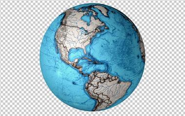 Клипарт планета Земля, для Фотошоп в PSD и PNG, без фона