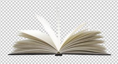 Клипарт открытая книга, для Фотошоп в PSD и PNG, без фона
