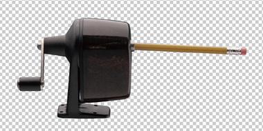 Клипарт древняя точилка для карандашей, для Фотошоп в PSD и PNG, без фона