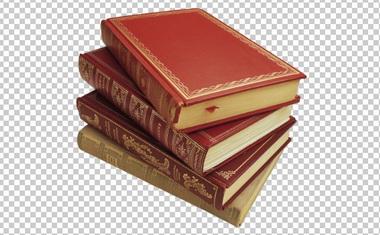 Клипарт стопка книг, для Фотошоп в PSD и PNG, без фона