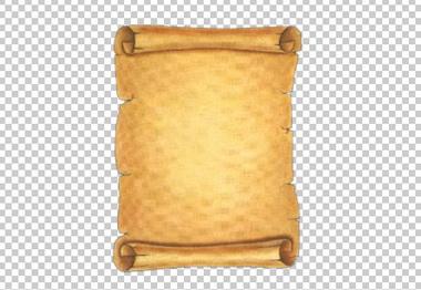 Клипарт свиток, для Фотошоп в PSD и PNG, без фона