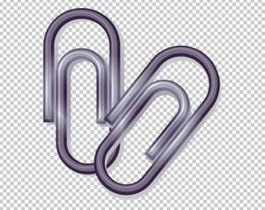 Клипарт скрепки, для Фотошоп в PSD и PNG, без фона