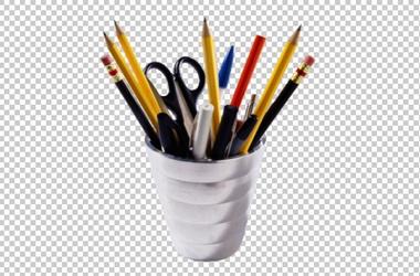 Клипарт стакан с карандашами, для Фотошоп в PSD и PNG, без фона
